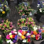 Some cut flower bouquets from Amsterdam.