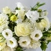 Annie all white flower arrangement