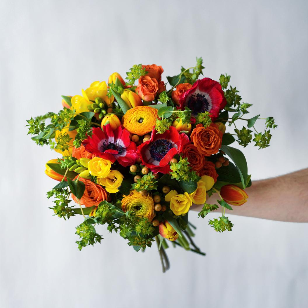 The Spring Sunrise Hand-Tied Bouquet