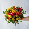 orange hand-tied bouquet