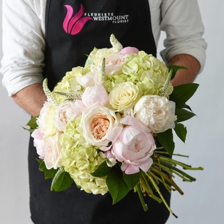 The Soft Summer Hand Tied Bouquet