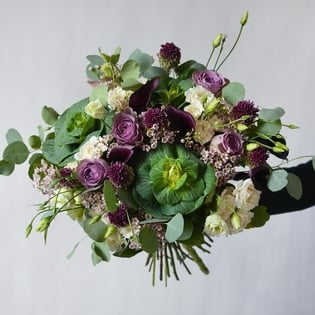 The Plum Fall Hand-Tied Bouquet